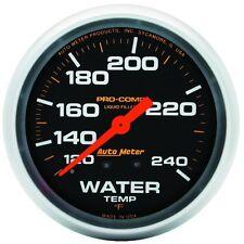 """Auto Meter 5432 Gauge; Water Temp; 2 5/8""""; 120-240ºF; Liquid Fill Mech; Pro-Comp"""