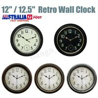 Large Non Ticking Silent Classic Round Wall Clock Home Office Garden Decor Gifts