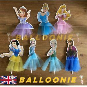 Princess Cake Topper Frozen Elsa Anna Cinderella Sofia Aurora Birthday Party
