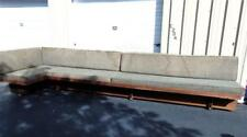 Michael P. Johnson L-shaped 3 part sofa or sectional, solid walnut and. Lot 56