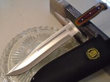 Chipaway Cutlery Bowie Hunter Combat Knife Full Tang Multi Color Pakkawood 16""