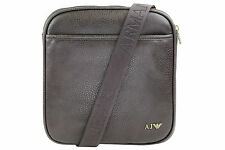 Armani Jeans Mens Faux Leather Shoulder Messenger Bag B6256 S8 Q7 Brown