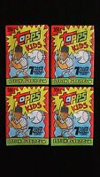 1992 Topps Kids Baseball Wax Pack 4 Pack Lot