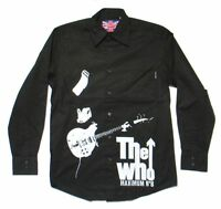 The Who Maximum R&B Pete Image Black Long Sleeve Dress Shirt New Official