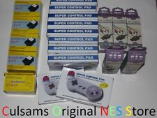 10 New Super Nintendo Snes Controllers, 5 Ac Adapter, 5 Av Cables Wholesale Lot