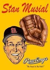 Stan Musial Rawlings PHOTO Baseball Glove Advertisement, St Louis Cardinals