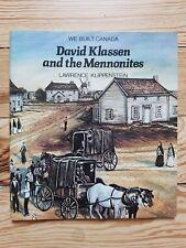 David Klassen and the Mennonites, Canadian 1982, history rural community Ontario