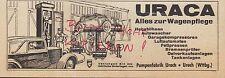 URACH Werbung 1934 Pumpen-Fabrik URACA Hebebühne Auto-Wascher Garagen-Kompressor