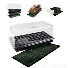 Hydroponic Hydrofarm Seed Starter Hot House Seedling Germination Plant Grow New