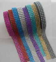 15mm x 3m Diamonte Diamante Ribbon cake craft card making 8 colours to choose
