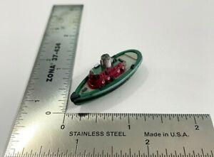 Micro Machines 1987 Galoob Civilian Tug Boat Red & Green Small Port Windows