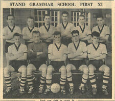 1959 Stand Grammar School First Xi Lyal Keithley Stokes Brookes Wolstenholme