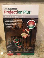 Christmas Light show Christmas Projection Plus Whirl a Motion Static Santa LED