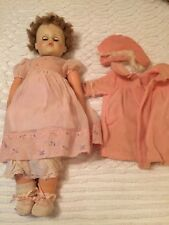 "24"" Horsman Magic Skin Doll Magic Hair Blue Sleepy Eyes 1930's"