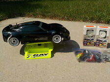 2003 XRAY T1 Evo 2 4wd Rolling Chassis Lotus Touring Car w/Parts, Tires, Stand +