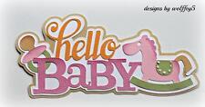 CRAFTECAFE BABY TITLE paper piecing premade scrapbook page die cut 3D WOLFFEY5