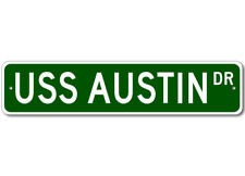 USS AUSTIN LPD 4 Street Sign - Navy Gift Ship Sailor
