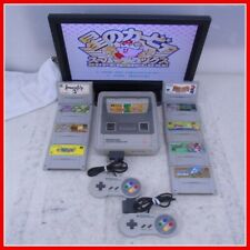 1Chip-01 Nintendo SNES SFC Super Famicom Console with 10 titlesTested Japan F/S
