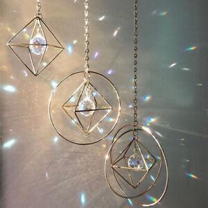 Kristall Suncatcher Prisma Catcher Fenster Wandbehang Anhänger Hochzeit DIY Deco