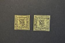 German States Bergedorf Scott 3 MH Sc $20