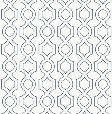 Tapete, Designtapete, Retro, geometrisch, Streifen, Weiß, Navyblau