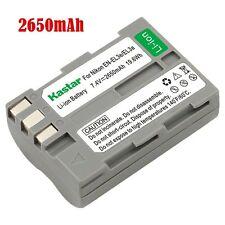 1x Kastar Battery for Nikon EN-EL3e ENEL3e D80 D90 D100 D200 D300 D300S D700