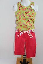 Gymboree Pretty Posies Girls Size 5 Sunglasses Top Shirt NWT Pink Capri Pants