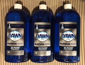 3 Dawn Ultra Platinum Erasing Dish Foam Refill 30.9oz. Each Pack Of 3 Free Ship