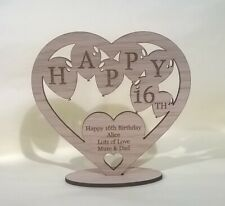 Personalised 16th 18th 21st  Any Age Birthday Present Gift Heart Keepsake