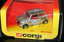 CORGI TOYS 201  * MINI 1000 RALLYE  * OVP * 1:36 * ORIGINAL 1979 * TEAM CORGI