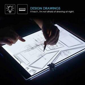 A5 USB LED Artist Tattoo Stencil Board LightBox Tracing Drawing Board Pad Table.