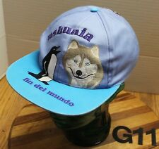 """YOUTH USHUAIA ARGENTINA """"FIN DEL MUNDO"""" HAT ADJUSTABLE EMBROIDERED GOOD COND G11"""