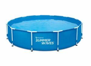 Pool Swimmingpool Aufstellpool SUMMER WAVES KOMPLETTSET  Abdeckplane & Filter