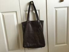 Dark brown Tommy Hilfiger tote leather bag