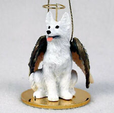GERMAN SHEPHERD (WHITE) ANGEL DOG CHRISTMAS ORNAMENT HOLIDAY Figurine Statue