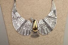 Handcrafted sterling silver-Gold plated Egyptian Necklace Choker