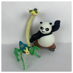 Kung Fu Panda McDonalds Toys 2008 Po Mantis Viper Figures lot of 3pcs