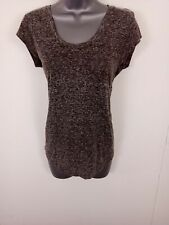 WOMENS MOSSIMO DUTTI SMART CASUAL T-SHIRT SHORT SLEEVES CROPPED LIGHT WEIGHT 34