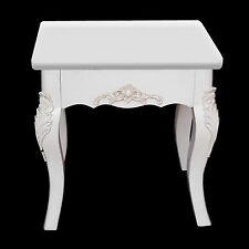SHABBY CHIC DRESSING TABLE STOOL WHITE PARIS FRENCH STYLE BEDROOM SEAT