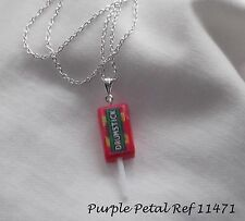 Handmade - Novelty Fun Drumstick Lolly Lollipop Sweet Charm Chain Necklace