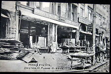 DAYTON Ohio ~ 1913 GREATEST FLOOD IN HISTORY ~MAIN & 5TH STREET~ KIRBY'S STORE