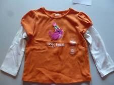 Gymboree Sweet Music Orange Shirt Top W/Bird Sizes 6-12-18-24 Mos. 2T 5T NEW