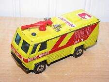 Matchbox Command Vehicle Airport Foam Unit Fire Motor Home Camper Yellow 1:64