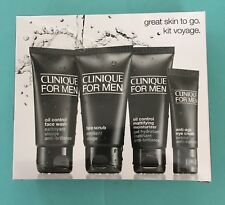 Clinique for men face kit voyage oily skin set 4 items new