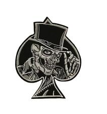 Skeleton in Top Hat Ace of Spades Cosplay Biker Steampunk Iron On Patch