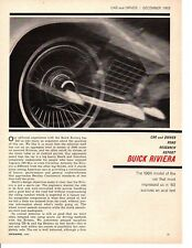 1964 BUICK RIVIERA 425/340 HP ~ ORIGINAL 8-PAGE ROAD TEST / ARTICLE / AD