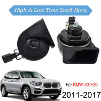 12V 410/510Hz High Low Pitch Snail Horn For BMW X3 F25 11-17 Loud Waterproof