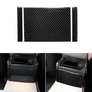Carbon Fiber Interior Rear Center Console Cover Trim fit For BMW 3 E46 1998-2005