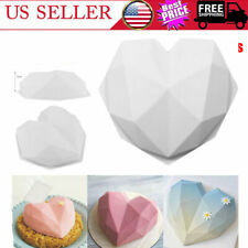 Baking Tool Diamond Cake Mold Heart Shape Mold Chocolate Molds Silicone Mould