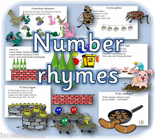NUMBER RHYMES EYFS  Maths printable Early Years / Primary teaching resources CD